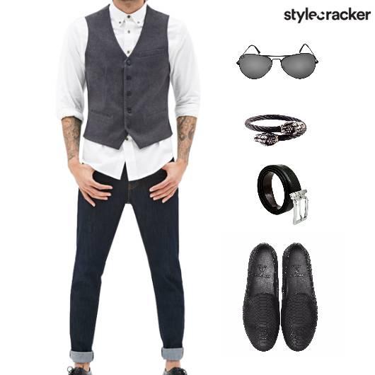 WaistCoat Denim Shirt Lunch Layer - StyleCracker