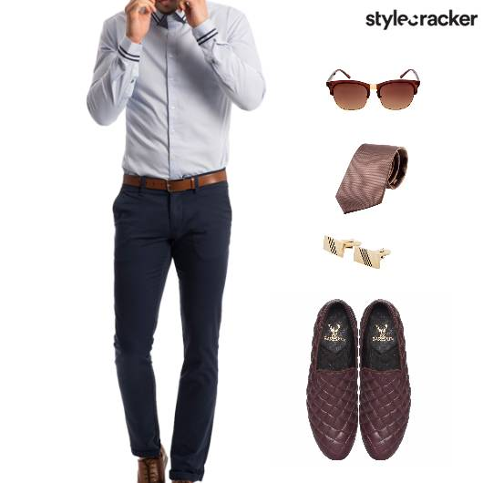 Work Meeting Shirt Pants Tie Accessories - StyleCracker