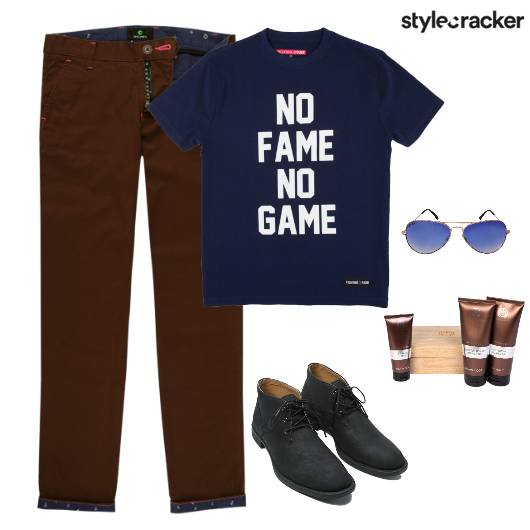 Casuals TShirt Pants Lunch - StyleCracker