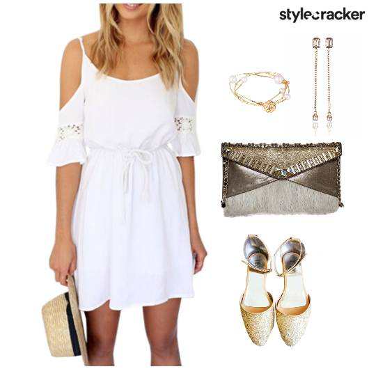 ColdShoulder Dress Clutch Accessories - StyleCracker
