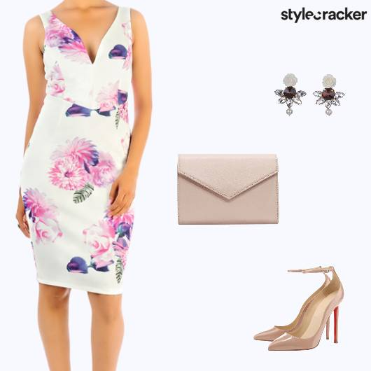 Formal Dress Lunch Party Floral - StyleCracker