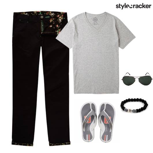 TShirt Casuals Flats Pants Brunch - StyleCracker