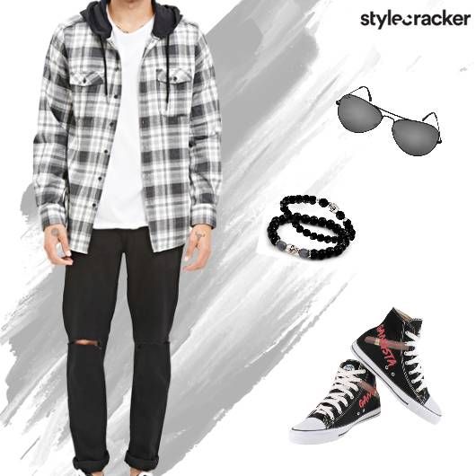 Casual Dayout Monochrome Summer Jacket - StyleCracker