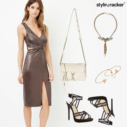 Metallic Sling Party Mesh DressedUp - StyleCracker