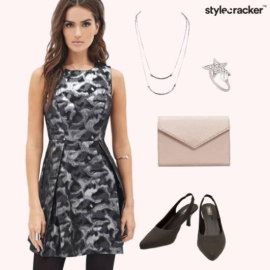 SkaterDress Metallic Dinner SlingBackShoes - StyleCracker