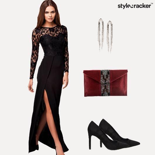 Lace Dress Maxi Cocktail Pumps  - StyleCracker