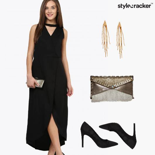 Dinner MidWeek Wrap Dress Clutch  - StyleCracker