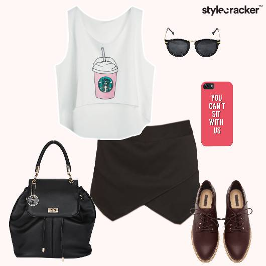 Tanktop Skirt Oxfords Backpack Phonecover Sunglasses - StyleCracker