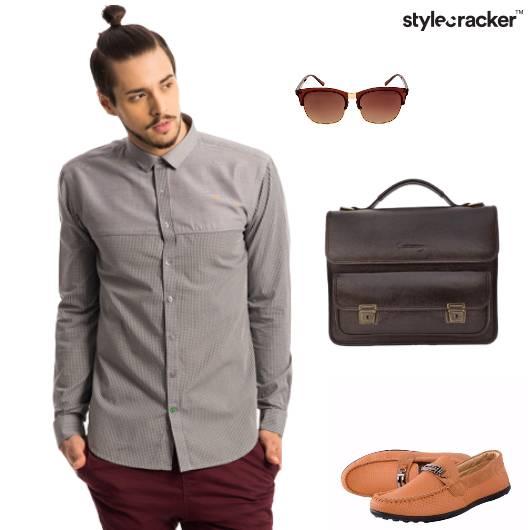 Shirt Chinos Loafers Messengerbag Work - StyleCracker