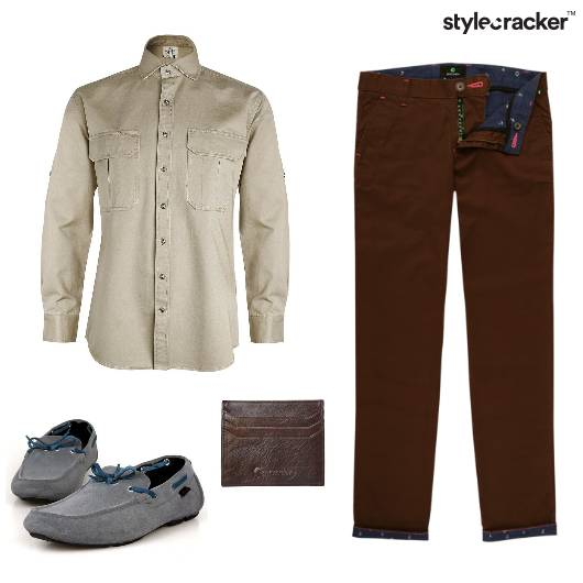Shirt Pants Loafers Wallet Formal  - StyleCracker