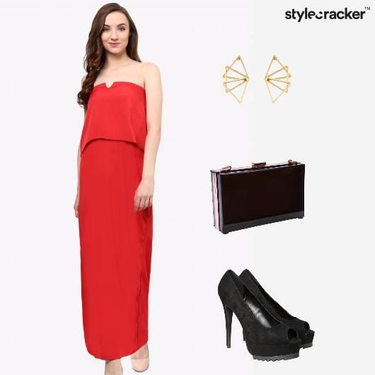 Maxi Dress Clutch Party  - StyleCracker