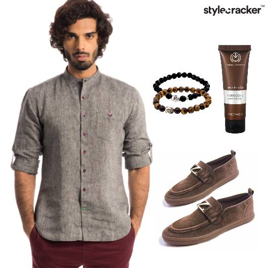 Shirt Grey Pants Casual - StyleCracker