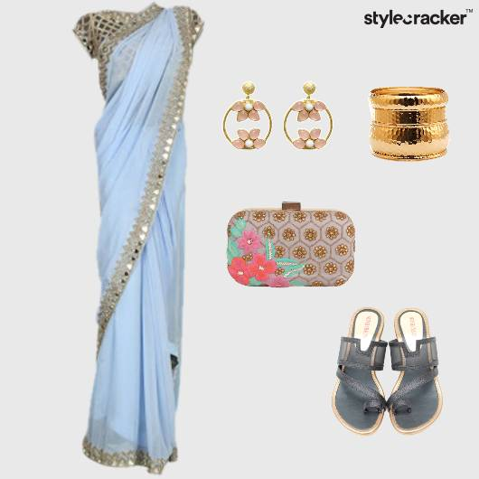 Pastel Indian Ethnic Wedges Reception  - StyleCracker