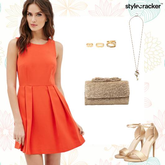 Orange Dress Weekend Party Nightout - StyleCracker