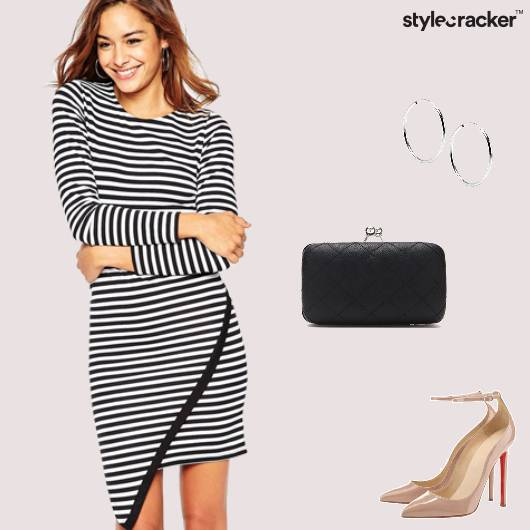 Stripes Dress Party Clutch  - StyleCracker