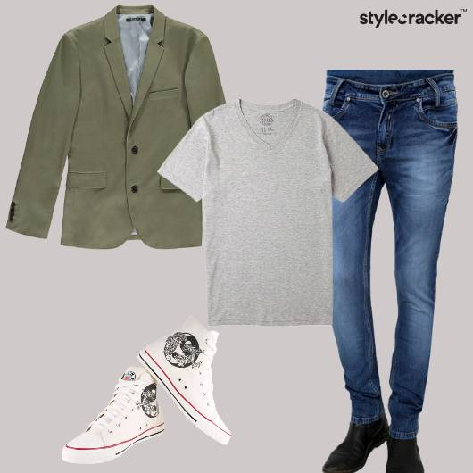 Blazer Shirt Jeans Shoes Party Dinner - StyleCracker