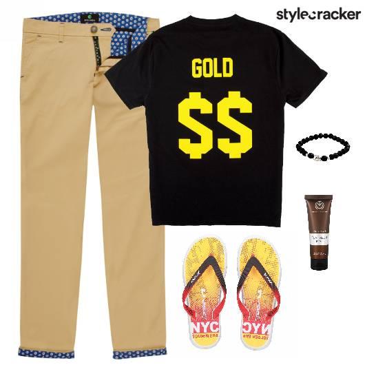 TShirt Pants FlipFlops Bracelet Lunch - StyleCracker
