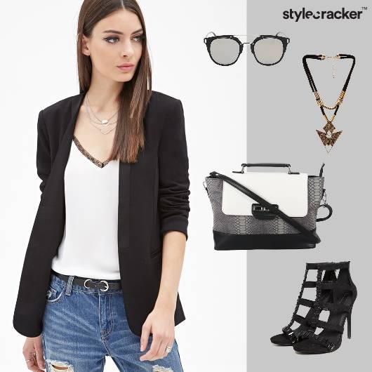 Work Formal Meeting Blazer Heels - StyleCracker