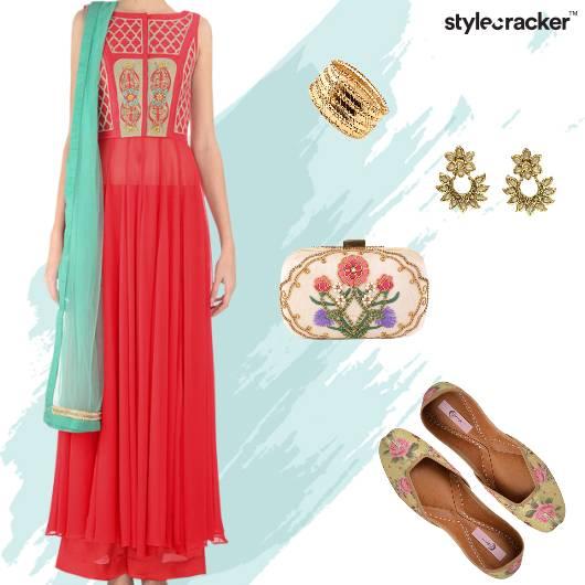 Wedding Festive Indian Anarkali - StyleCracker