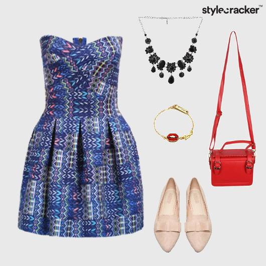 SkaterDress Flats Dinner Saturday  - StyleCracker