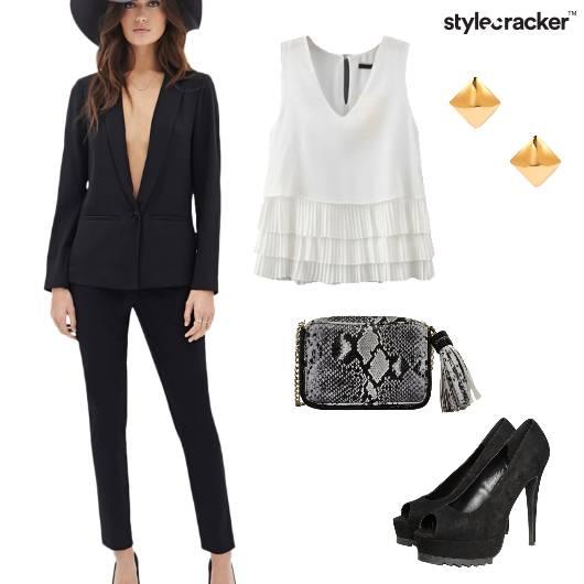 Formal Event Blazer Black  - StyleCracker