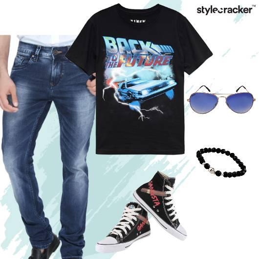 Casual Denims Converse Sneakers GraphicTee - StyleCracker