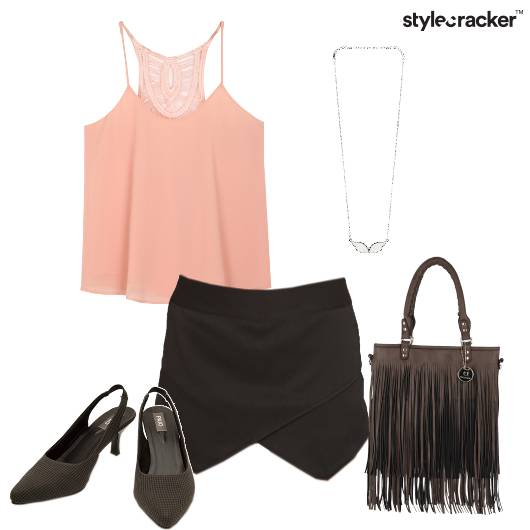 Top Skirt Slingback Fringebag Party - StyleCracker
