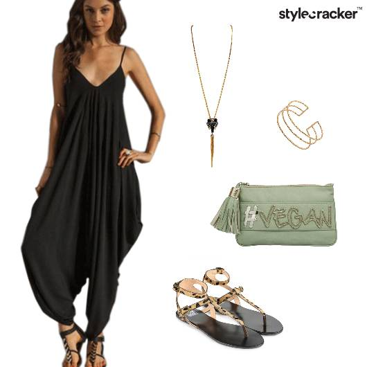 Jumpsuit Comfy StrappyFlats Casual  - StyleCracker