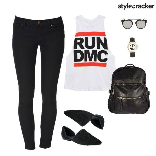 Muscle TShirt SlimPants Lunch Casual - StyleCracker