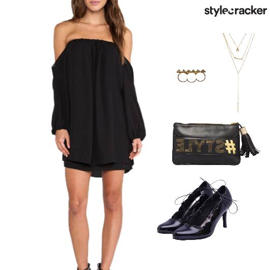OffShoulder Dress Accessories Dinner - StyleCracker