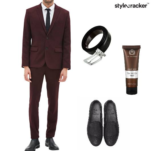 Blazer Trousers Loafers Shavegel Belt casual - StyleCracker