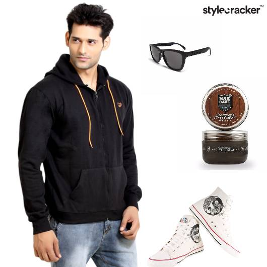 Hoodie Jeans Hightops Casual Travel - StyleCracker