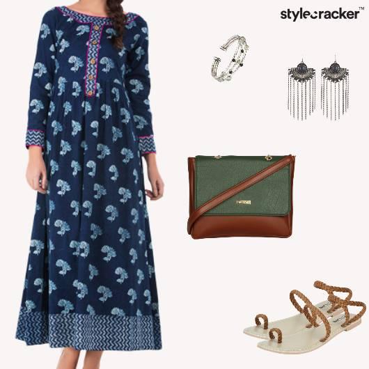 Summer Casual Maxi Dress Silver Indigo - StyleCracker
