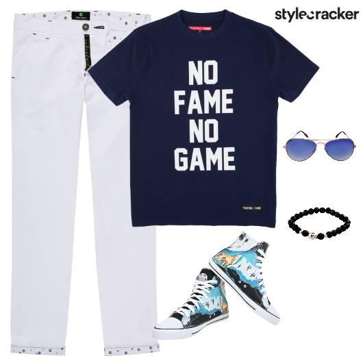 TShirt Casuals HiTops Footwear Bracelet   - StyleCracker