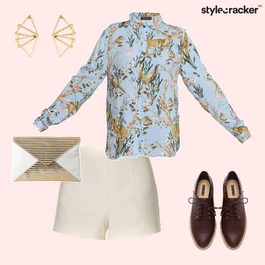Shorts Prints LaceUps Clutch Brunch  - StyleCracker