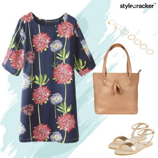 WorkWear Office Floral Dress - StyleCracker