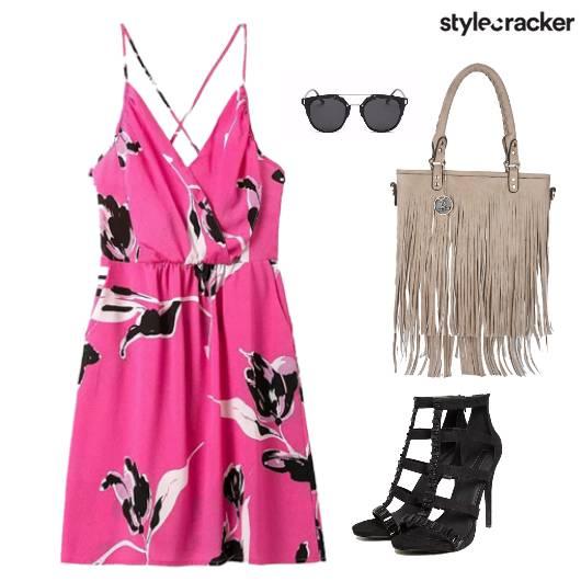 Printed Dress Summer Fringe Bag Lunch - StyleCracker