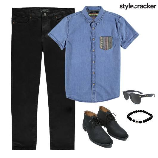 Denim Shirt Casual Comfort  - StyleCracker