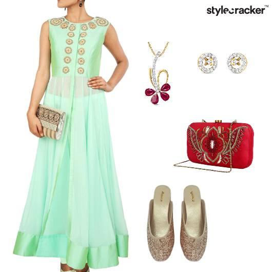 Indian Ethnic Reception Clutch  - StyleCracker