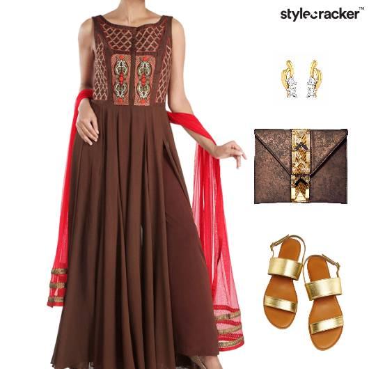 Indian Festive Ethnic Flats Footwear - StyleCracker