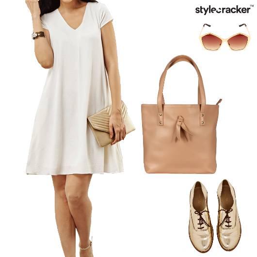 White Brunch Casual Dress DayDress - StyleCracker