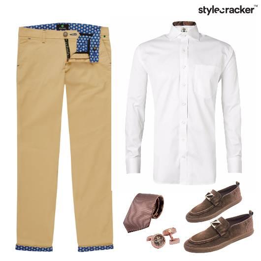 Formals Crisp White Shirt Accessories - StyleCracker