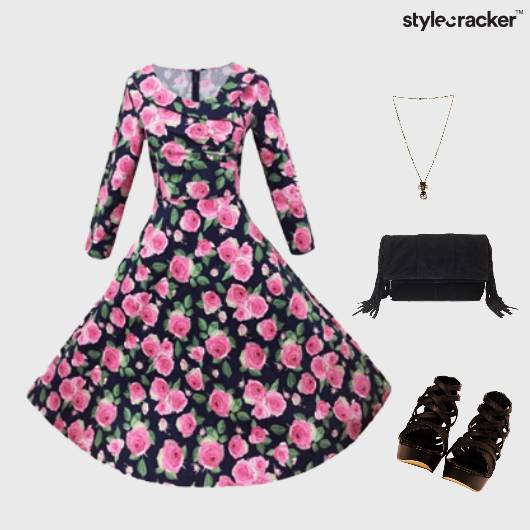 Printed Dress Floral Accessories  - StyleCracker