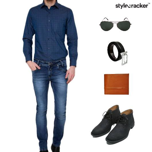 Lunch Casuals Shirt Denim Comfort - StyleCracker