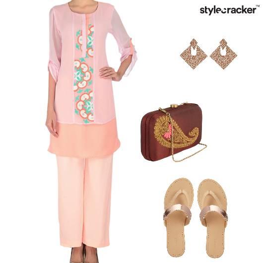 Suit Flats Clutch Indian Summer - StyleCracker