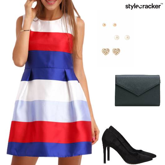 Dress Fitandflare Pumps Clutch Party - StyleCracker