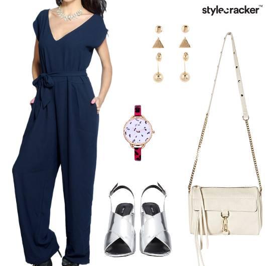 Jumpsuit Heels slingbag Evening - StyleCracker