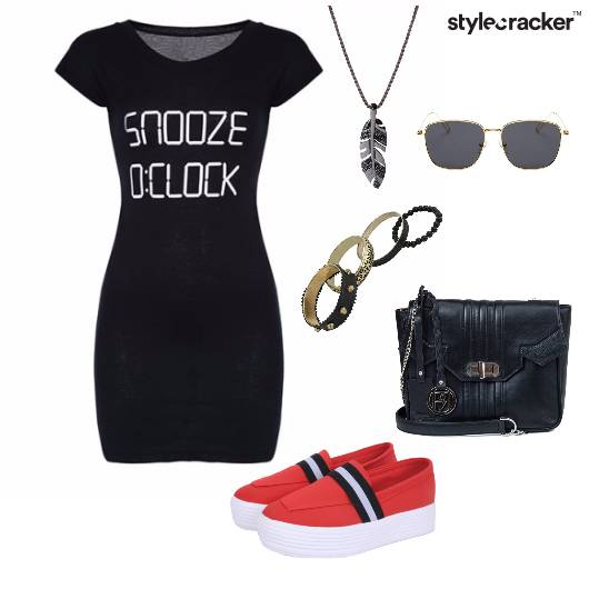 Bodycon Text Casual Dress - StyleCracker