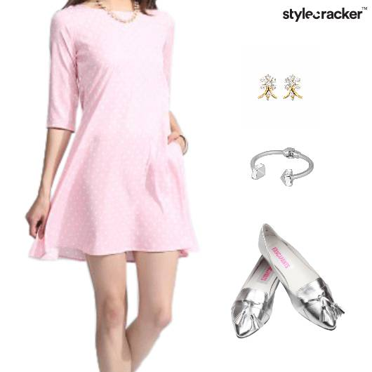 Dress Flare BalletFlats Accessories - StyleCracker