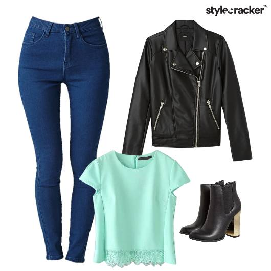 Blouse Top Leather Jacket Travel - StyleCracker